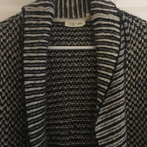 Black and white sweater coat